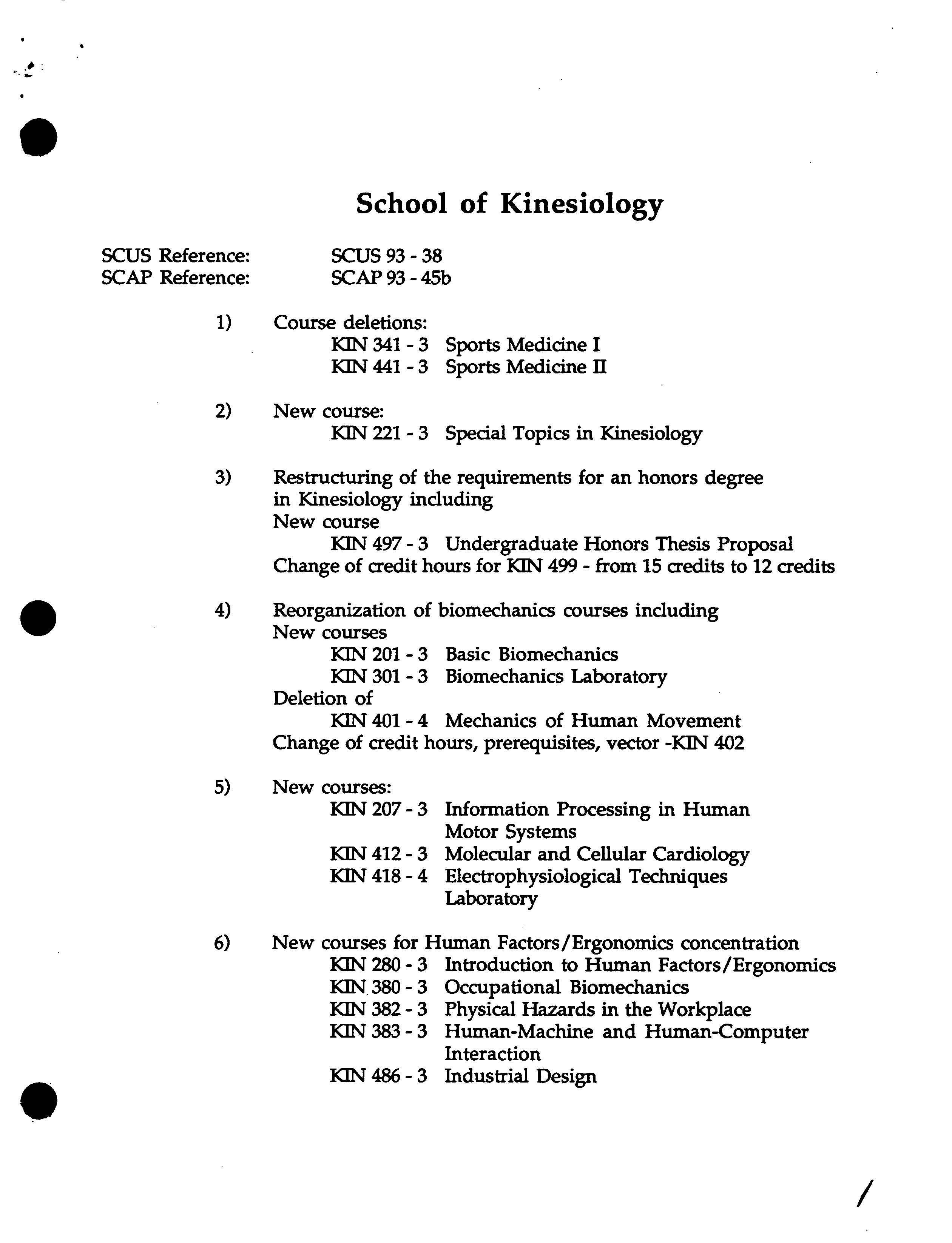kinesiology topics