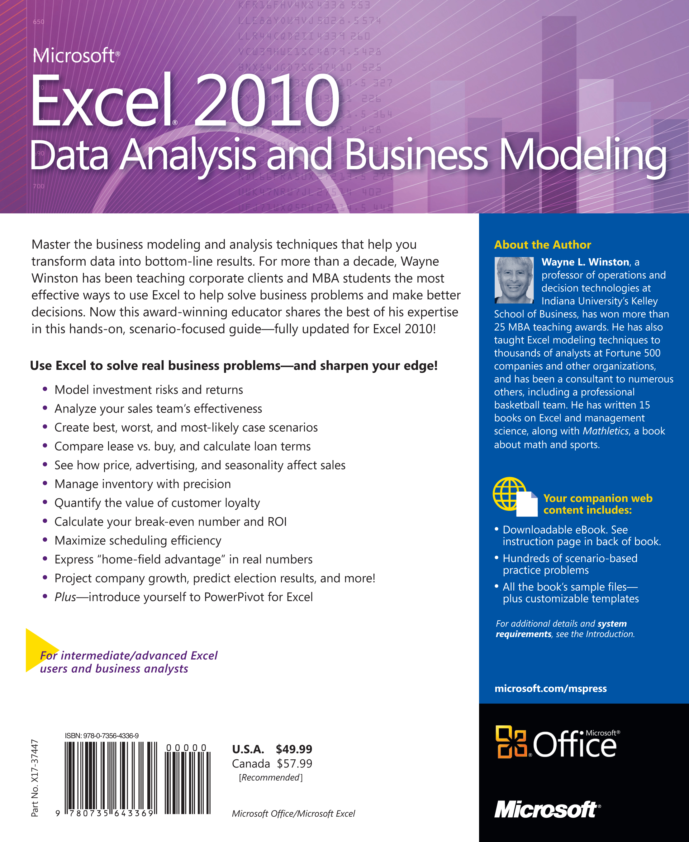 Microsoft excel 2010 data analysis and business modeling what you should know before reading this book fandeluxe Images